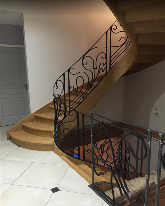 Escalier design contemporain bois métal (38) Isere, voiron, bourgoin ...