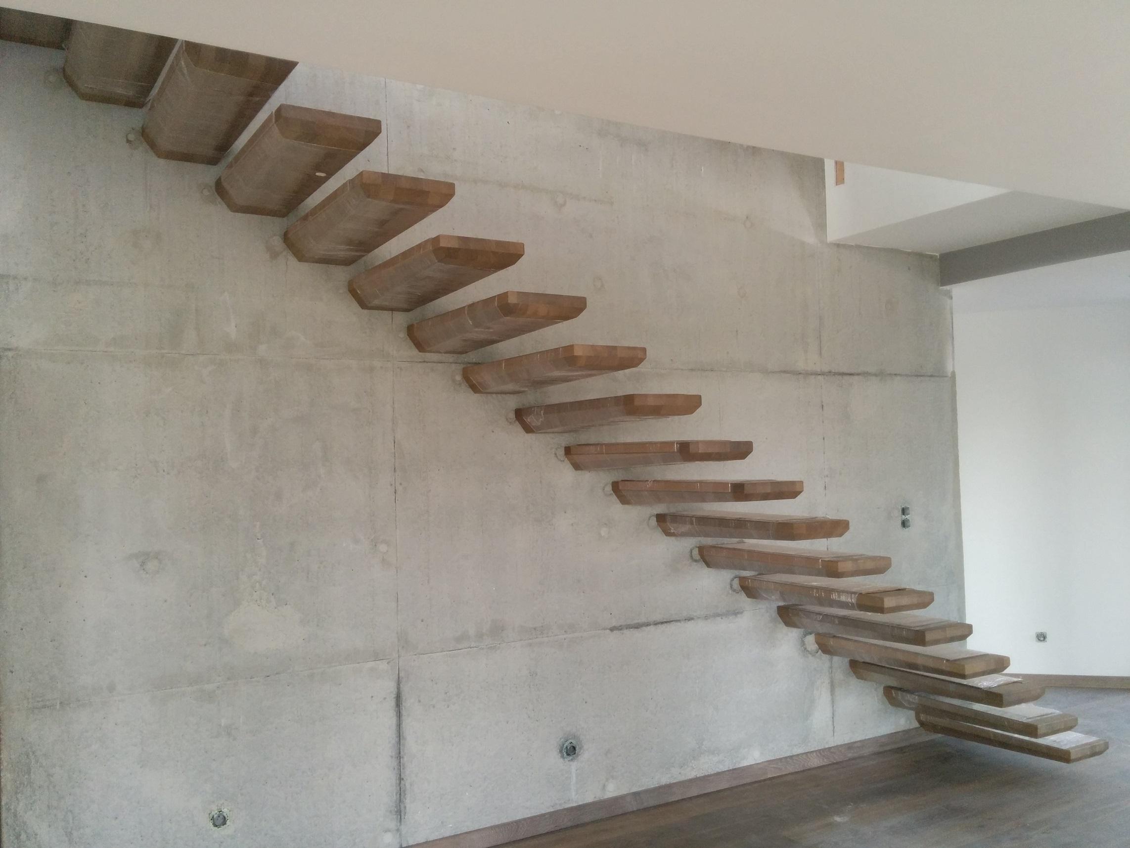 Escalier Marches Suspendues Mur escaliers suspendus
